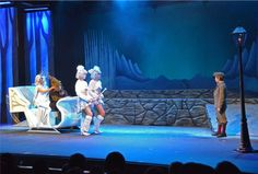 """Sarah Pansing as the White Witch and Ethan Shanker as the Dwarf arrive in a sleigh pulled by Reindeers Wednesday Estes and Jessica Wastchak while Owen Watson as Edmund watches in """"Narnia: The Lion, the Witch and the Wardrobe"""" at Valley Youth Theatre - #examinercom"""