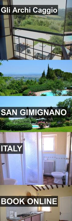 Hotel Gli Archi Caggio in San Gimignano, Italy. For more information, photos, reviews and best prices please follow the link. #Italy #SanGimignano #travel #vacation #hotel