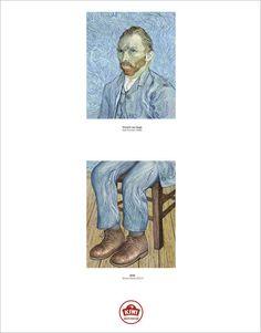 .Ogilvy's Award-Winning Campaign Completes Bottom Half Of Famous Portraits..Vincent Van Gogh, Self Portrait
