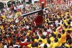 Millions Of Devotees Swamp In The Procession Of The Black Nazarene