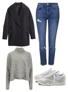 """""""november 18"""" by tropikall ❤ liked on Polyvore featuring H&M, Topshop, Reebok and Designers Remix"""
