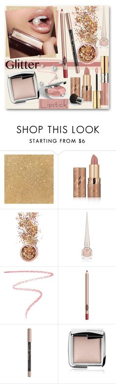 """So Sparkly:  Glitter Lips"" by brendariley-1 ❤ liked on Polyvore featuring beauty, Jouer, tarte, In Your Dreams, Christian Louboutin, Lipstick Queen, Charlotte Tilbury, Christian Dior, Maybelline and Hourglass Cosmetics"