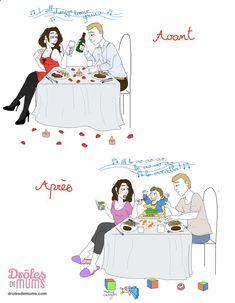 Joyeuse Saint Valentin les parents ! Ah, l'Amour ! Au début, on est deux, on le fête, on le célèbre… toutes les occasions sont bonnes, et la Saint Valentin est une sorte d'apothéose ! Et puis, un jour… on est plus de 2 pour la fêter, et là… Et si tu veux voir toutes les illustrations de Marie Crayon, c'est par ici : drolesdemums.com/... ➡ http://www.diverint.com/humor-grafico-bueno-hay-coherentes-ideas