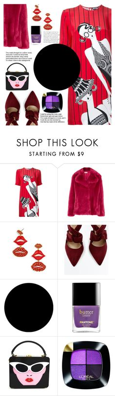 """""""Purple & Red"""" by yuree ❤ liked on Polyvore featuring Holly Fulton, MICHAEL Michael Kors, BaubleBar, Wall Pops! and L'Oréal Paris"""