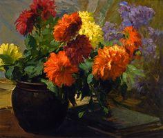 Jean Mannheim (1863-1945)  —  Dahlias  (905×768)