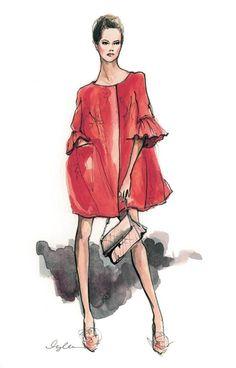 эскизы одежды акварелью - Поиск в Google