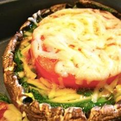 Grilled Portobello with Arugula and Tomato - Swimsuit Model Christine Teigen's Top 5 Low-Carb Recipes - Shape Magazine