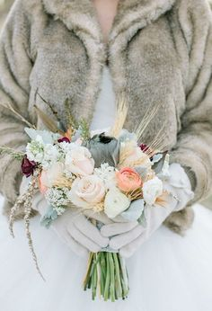 Muted and pale winter bouquet | Photo by Haley Sheffield