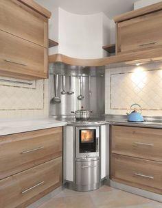 Open Plan Kitchen Living Room, Kitchen Family Rooms, Kitchen Stove, Kitchen Cabinets, Micro Kitchen, Off Grid House, Interior Decorating, Interior Design, Interior Architecture