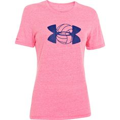 NEW at All Volleyball! Under Armour Big Logo T-shirt in Pink