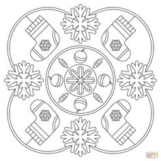Winter Mandala | Super Coloring