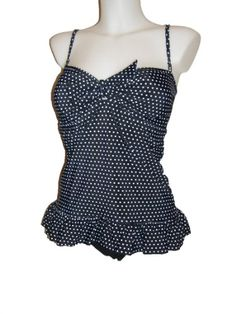 Mw Long Ruffle Tankini Bikini Swimsuit, Bra Straps, Multiple Prints $44.99
