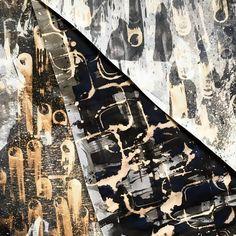 Unexpected results.  Quink&Bleach on paper. 65cmX100cm. #decor #abstractart #quink #blackink #bleach #markmaking #texture #interiordesign #homedecor #frame #walldecor