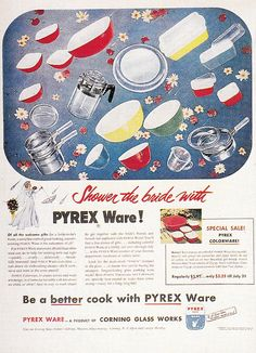 NOW THIS IS MORE LIKE IT!!!  Instead of throwing rice....throw PYREX dishes!!!