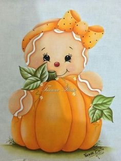 Fall Canvas Painting, Autumn Painting, Tole Painting, Fabric Painting, Gingerbread Crafts, Gingerbread Decorations, Halloween Decorations, Fall Crafts, Diy And Crafts
