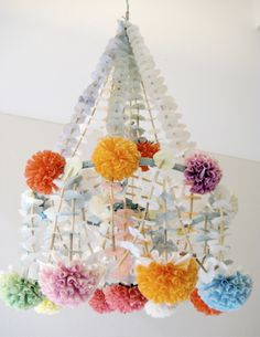 Eleven Creative Papery Projects  decor8 » Blog Archive » Polish Paper Chandeliers