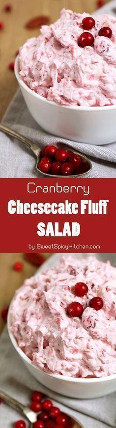 Cranberry Cheesecake Fluff Salad