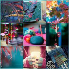 ❥ Colorful collage