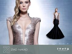 A combination of metallic beadings and fabric #modern #sophisticated. #fashion #hautecouture