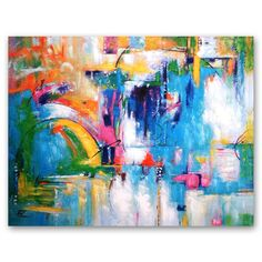 Summer Glow Stretched Canvas | 120 x 90cm by Abstract Artwork on THEHOME.COM.AU
