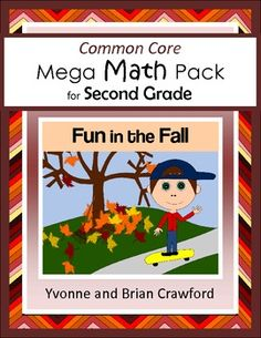 The Common Core Mega Math Pack for Second Grade Fun in the Fall is a collection of math problems targeted toward specific Common Core standards for the second grade with an autumn theme. $