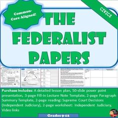 federalist paper 78 The federalist papers are a series of 85 essays arguing in support of the united states the federalist papers, specifically federalist no 84 no 78: the.