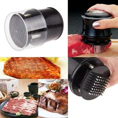 Meat Tenderizer with 56 Stainless Steel Blades