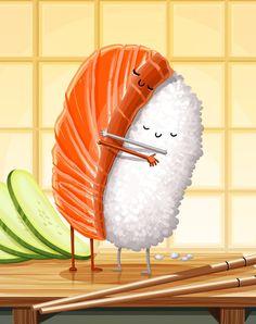 Sushi Hug by tihmoller.deviantart.com on @DeviantArt