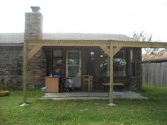 DIY Patio cover with corrugated metal roof (or those wavy plastic things to let in light!)