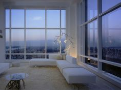 A living room with a view