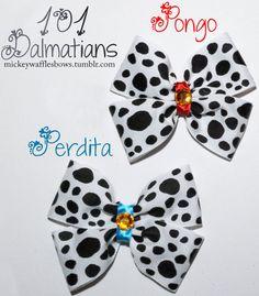 101 Dalmatians Hair Bow - Pongo OR Perdita