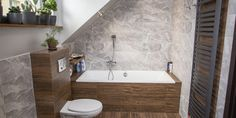 Dom Zaczernie I - Budowa domów szkieletowych kanadyjskich Rzeszów - Daszer #łazienka #domszkieletowy Alcove, Bathtub, Vanity, Bathroom, Standing Bath, Dressing Tables, Washroom, Bathtubs, Powder Room
