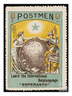 Esperanto Stamp Giclee Print at Art.com