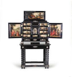 Cabinet en ébène et bois noirci, Anvers, XVIIème siècle