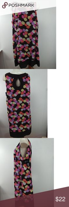"Kaelyn-Max Multi-Color Dress Size 1X New Kaelyn-Max Multi-Color Dress Size 1X New 100% polyester, measurements from armpit to armpit 23"" , measurements shoulder to Front Bottom hem 39"", sleeveless Kaelyn-Max Dresses Midi"