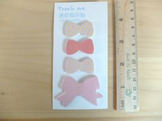 Cute tiny bow sticky notes by eastmeetswest on Etsy