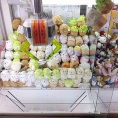 Little Sumikko Gurashi Plushies waiting to be caught by the UFO claw!