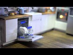 Minifanaberia Modern Kitchen Diorama in 1:12 scale - YouTube