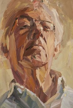 "Artist: Tim Benson; Oil 2010 Painting ""Dad looking down"""