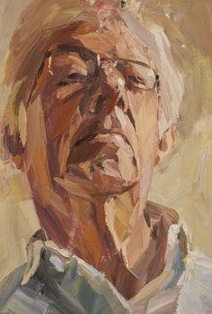 "Artist: Tim Benson; Oil 2010 Painting ""Dad looking down"""