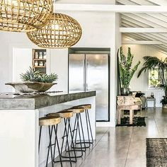 Kitchen hangs at The Grove #kitchen #interiors
