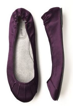 Aubergine Ballet Flats - Bridesmaid Shoes $28.00; choose from 20+ colors with optional bow! bridal flats; wedding flats; special occasion flat shoes; ballet flats