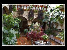 Enclosed patio in Cordoba