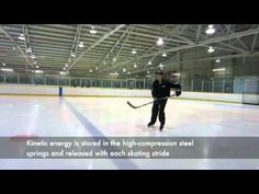 "Bill Heath of Hockey Extreme ""springing around"" on the prototype Launch spring suspension ice skates Kinetic Energy, Skates, Ice Skating, Hockey, Product Launch, Spring, Field Hockey, Skating, Ice Hockey"
