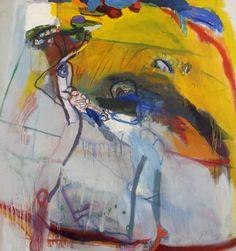 Gele heuvel en figuren - P.J. Defesche - 1969  Maat: 129,5cm x 121cm  Materiaal: olieverf op doek  Inventarisnummer: K69302