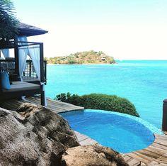 Beautiful view and Lunch at #Sheerrocks #Antigua #Barbuda