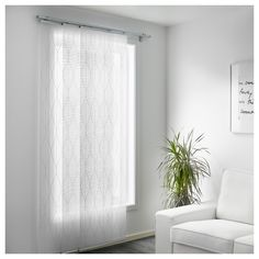 IKEA - GRYNET, Panel curtain, A panel curtain is ideal to use in a layered window solution, to divide rooms or to cover open storage solutions.You can cut the panel curtain to the desired length without hemming it.