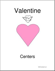 Learning Center Activities for Valentine's Day; color code, sequencing, venn diagram and cut out butterfly all in one FREE printable.
