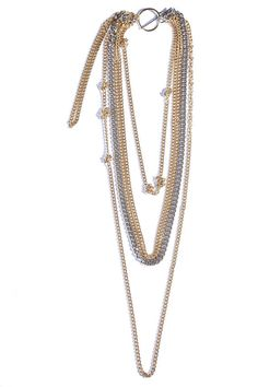 Gold or Silver Layered Cascade Diva Body Shoulder Chain