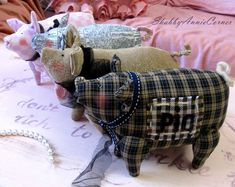 Pig decor Stuffed pig gifts Tilda Pig Valentines French chic pig Soft toy pig Country pig Farmhouse chic decor Girls Nursery Pigs lover gift